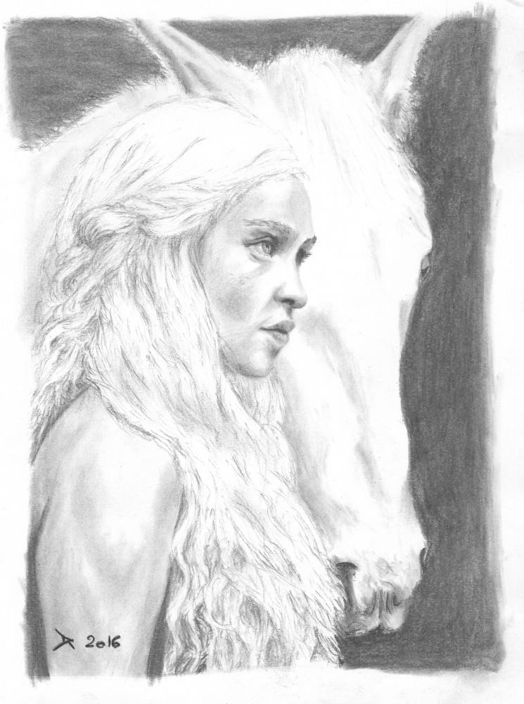 Emilia Clarke by DamienRollee